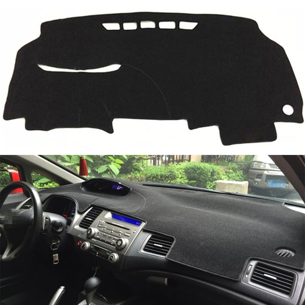 1pcs Polyester Car Inner Decorations Accessories Dashboard Cover Dashmat Dash Mat Pad For Honda Civic 2006-2010 2011 Car Styling dashmat original dashboard cover buick skyhawk