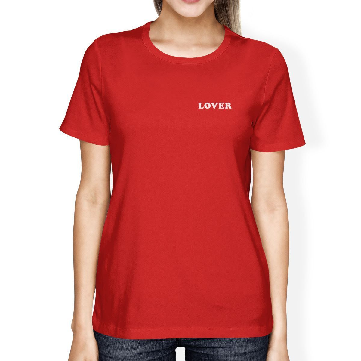 T shirt design red - Lover Women S Red T Shirt Cute Graphic Tee Gift Ideas For Birthdays Designer Women S T Shirt High Quality Ladies Anime