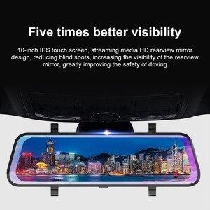 Image 3 - 10 Inch Touch Bildschirm Fahren Recorder DVR Rück Kamera Volle HD Auto Kamera 1080P Hinten Kamera Dual Lens Video recorder