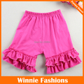 Free Shipping Winniefashions!girls Ruffles Cotton Shorts,children Hot Beach Shorts Summer,free