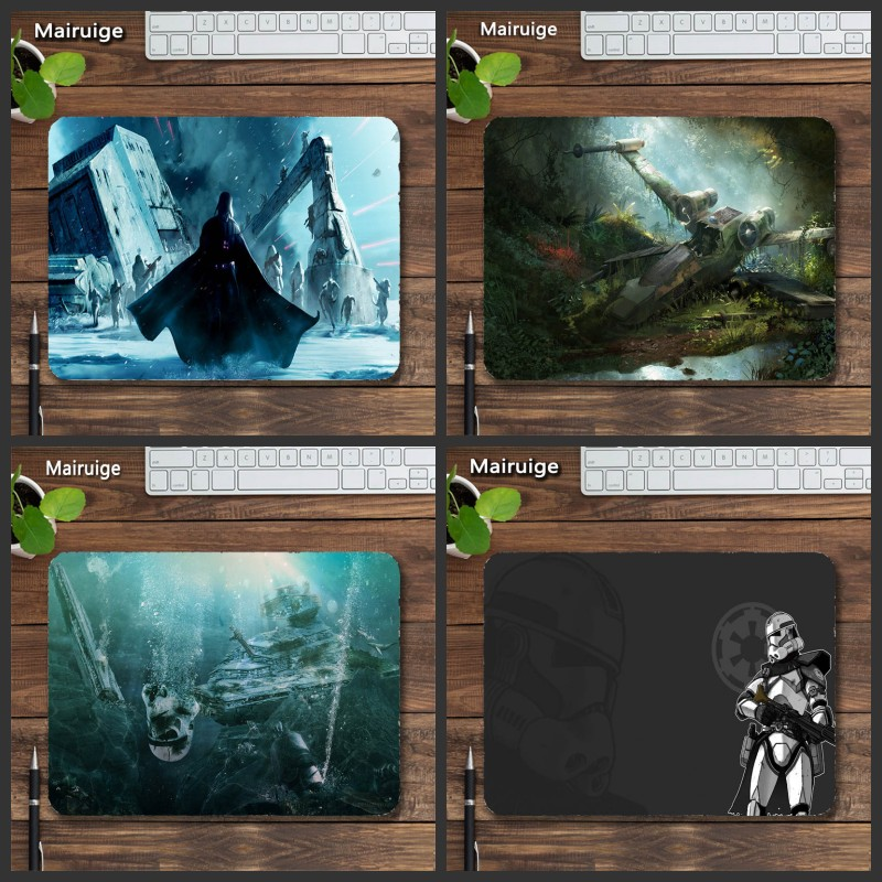 Mairuige Wholesale Sales Hot Selling Star Wars Custom Antiskid Wearable Mouse Pad Computer Table Mat Game Mousepad 22x18x2cm Diy image