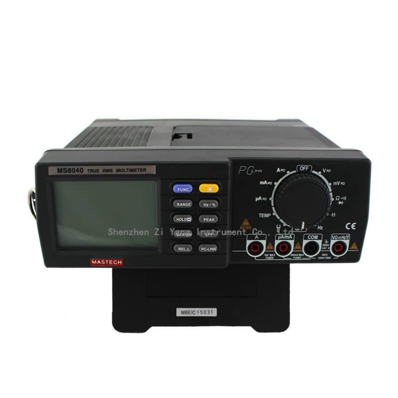 MASTECH MS8040 22000 cuentas corriente de voltaje CA CC rango automático multímetro de Banco verdadero RMS filtrado de paso bajo con interfaz de RS 232 - 2