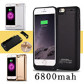 Fochutech 6800mAh Rechargeable External Battery Backup Charger Case Cover Pack Power Bank for iPhones 6 6s Black White gold