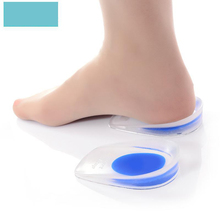 2Pcs Silicone Gel Feet Cushion Comfortable Foot Heel Cup Elastic Care Half Insole Shoe Heightening Pad Anti-foot Pain 1pair silicone gel heel cushion protector foot feet care shoe insert pad insole