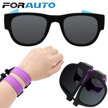FORAUTO Fold okulary przeciwsłoneczne okrągłe okulary przeciwsłoneczne ochrona UV okulary polaryzacyjne Outdoor Sports Portable tanie i dobre opinie Kobiety Mężczyźni Unisex