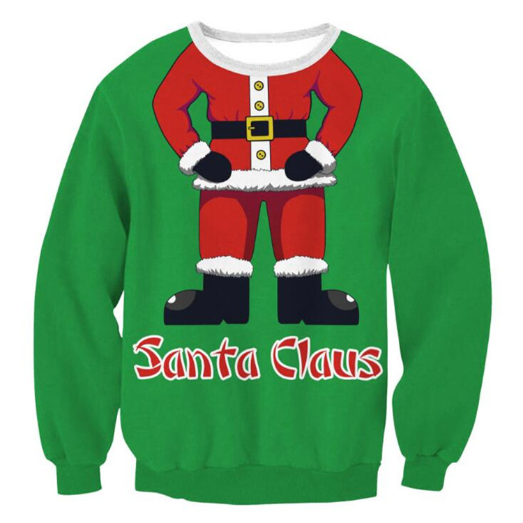 e881c1fb79 2018 Women Ugly christmas sweater Vacation Santa Elf Funny Christmas  Sweaters mujer Jumper Autumn Winter Tops Clothing 20 Colors-in Pullovers  from Women s ...