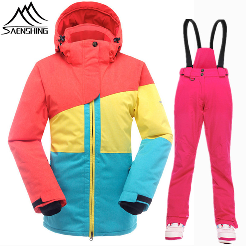 f60b3630bd0d SAENSHING Snowboarding Suits Ladies Thermal Winter Ski Suit Women ...