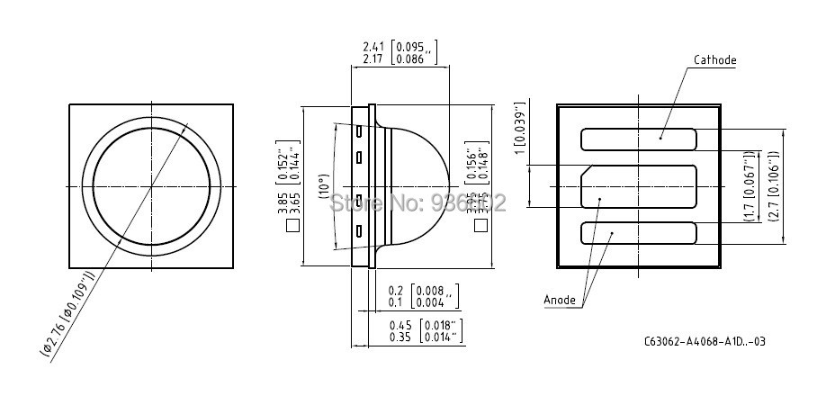 OSRAM OSLON черный серия высокой мощности Светодиодный 3 Вт 3535 холодный белый LUW H9GP освещение применение