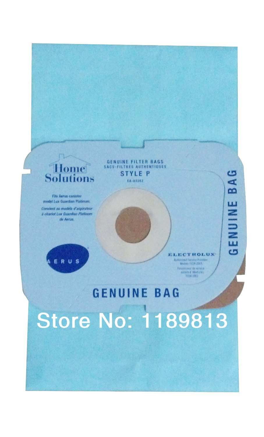 Electrolux & Lux Style P vacuum cleaner paper dust bag
