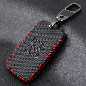 Leather key fob cover case holder for Renault TALISMAN CAPTUR Espace Clio Megane Koleos scenic 4 2016-2019 card remote keyless(China)