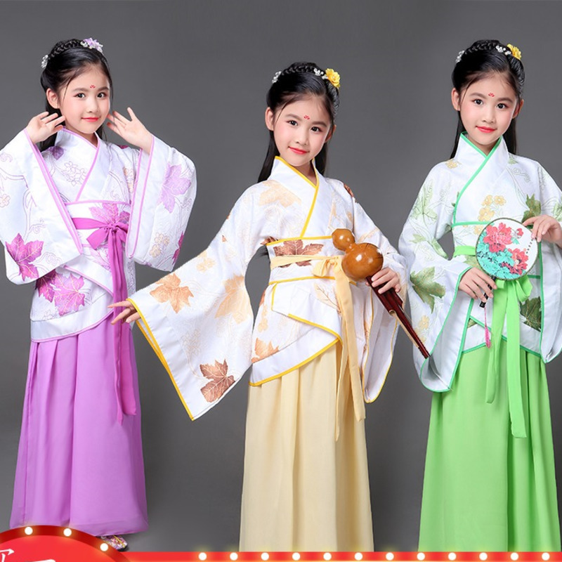 girls traditional chinese traditional tang hanfu dress child clothing cosplay fairy dance ancient chinese costume kids children