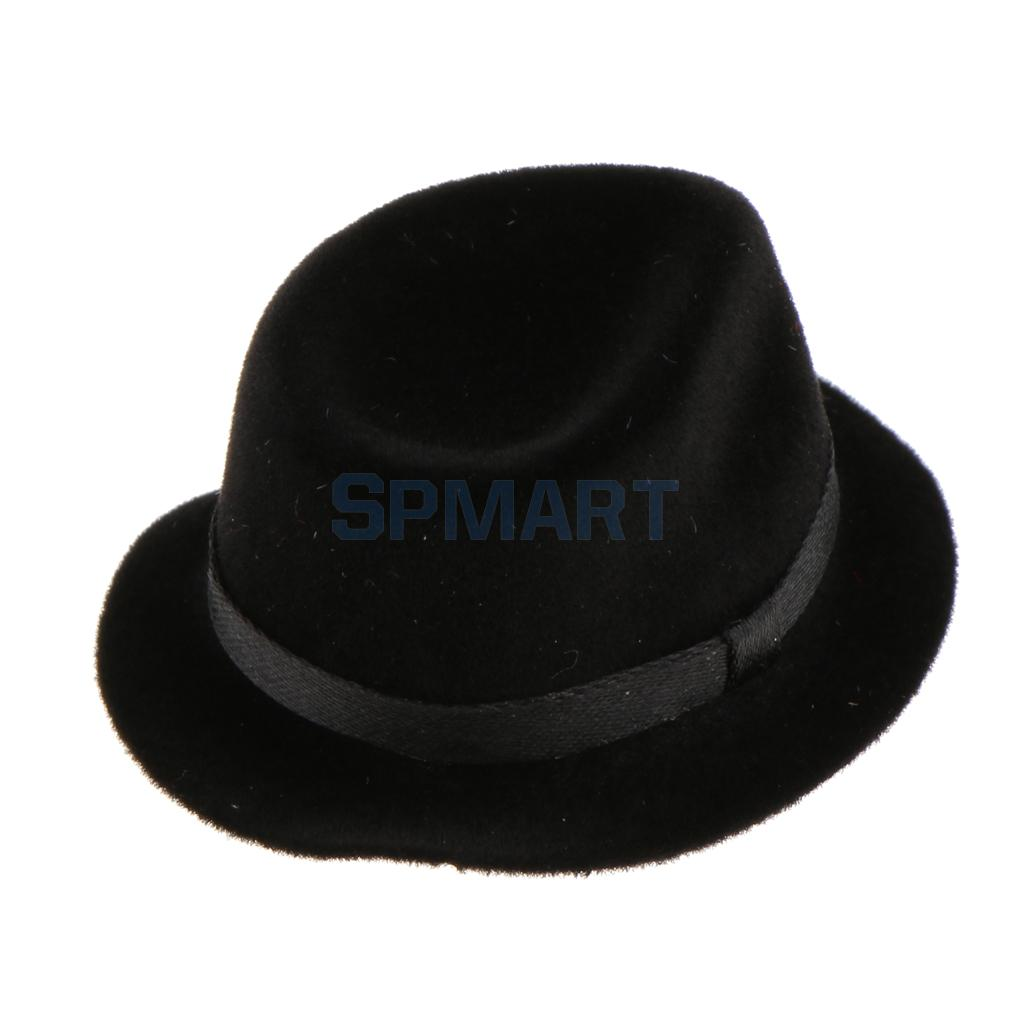 1/6 Scale Black Bowler Hat Accessories For 12'' Action Figure Hot Toys Sideshow Enterbay Accessories chic letters print band embellished women s knitted bowler hat