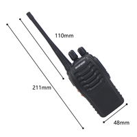 "2pcs baofeng bf 888s 2pcs Baofeng 888S BF-888S מכשיר הקשר 5W Handheld Portable שני הדרך רדיו UHF 400-470 מגהרץ 16CH CB FM Ham Radio מקמ""ש (2)"
