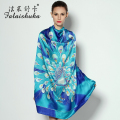 100% Natural Silk Square Scarves Large Size 110cm x 110cm Fashion Printed Pure Silk Scarf Shawl Sunscreen Shawls Fw223