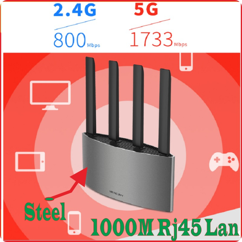 Chinese Firmware, USB2.0 Port, Steel Wireless Router 802.11AC 2600M Dual Bands 2.4GHz+5GHz 4*RJ45 Gigabit ports AC2600 Huge WiFi