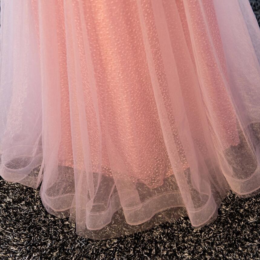 NICEOOXIAO Vestido de fest 2018 Anko ružičasta perla seksi duga - Haljina za posebne prigode - Foto 4
