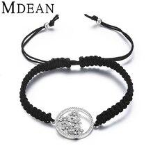 Mdean oro blanco pulseras de colores para las mujeres de joyería de moda pulsera de las mujeres aaa circón accesorios msb020 femme