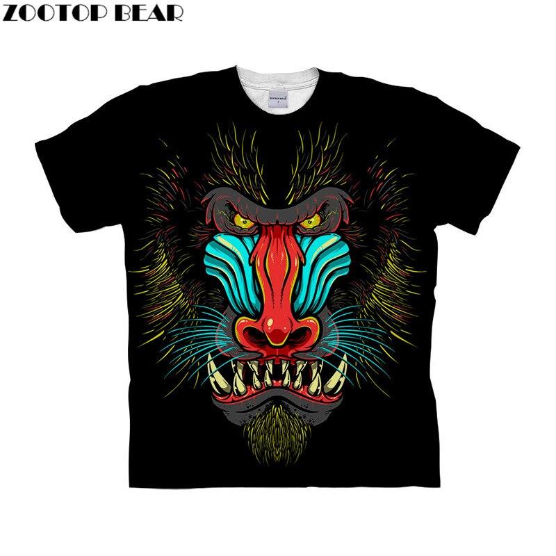 Animal Prints tshirt 3d t shirt Men Women t-shirt Funny Tops Tee Short Sleeve Camiseta Streetwear Clothing Drop Ship ZOOTOP BEAR