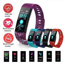 DW-Wogesup Smart Band Y5 Heart Rate Blood Pressure Monitor Colorful Screen Bracelet Wristband Notification Smartband