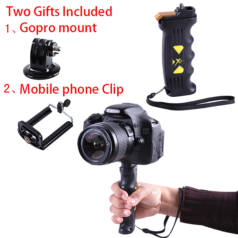 Point Pistol Hand Grip  XTPG With Mobile Phone Clip and Gopro Mount - Camera and Photo