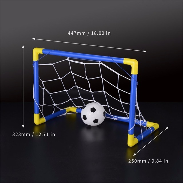 Folding Mini Football Soccer Goal Post Net Set with Pump Kids Sport Indoor Outdoor Games Toys Child Birthday Gift Plastic Hot