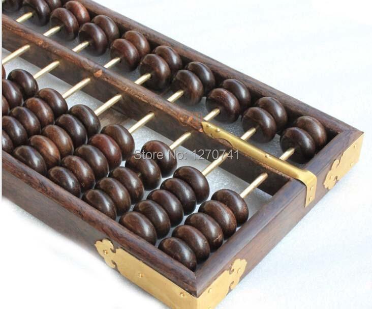 Haute qualité 15 colonne vieux bois noir boulier chinois soroban outil en mathématiques éducation pour comptable