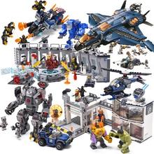 Legoing Marvel Мстители 4 Endgame Бесконечность войны Железный человек Халк супер строительные блоки герои кирпичи Фигурки игрушки танос Супергерои