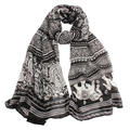 Stylish 2016 New Ladies Indian Thailand Style Neck Stole Elephant Print Long Scarf Shawl Wrap Pashmina Free Shipping JN15