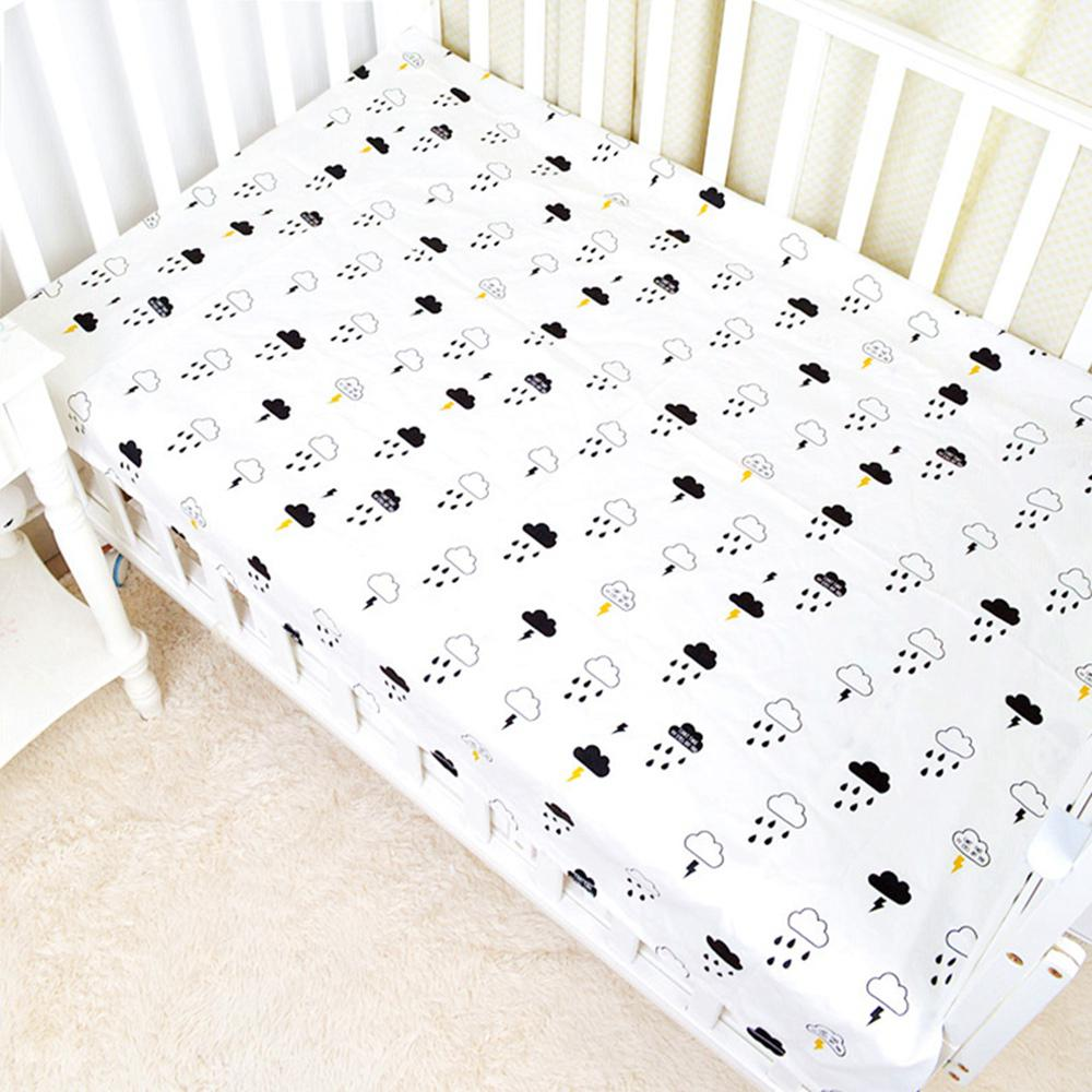 Cotton Crib Fitted Sheet Soft Baby Bed Mattress Cover Protector Cartoon Newborn Bedding For Home Cot