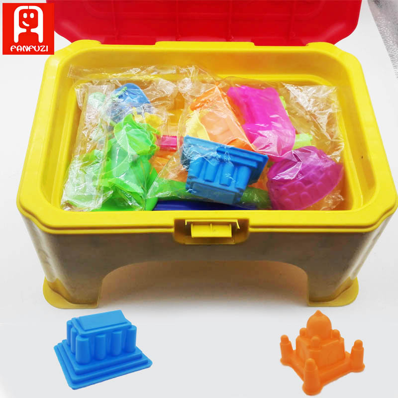 28Pcs/Set dynamic sand model Castle pyramid Mold Sandcastle Model Tool For Kids Play Beach Sand Clay slime magic sand small strain dynamic properties modeling for cemented sand