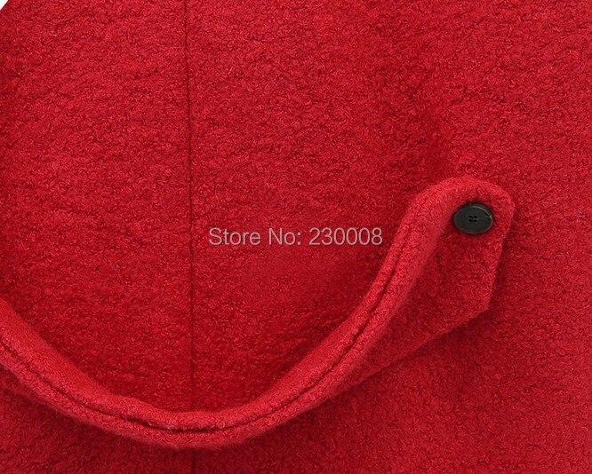 S xxxl Mode Mince rouge Solide Plus Casual Nouvelle Taille Big Hiver Laine Longue Arrivée Manteau Noir Rouge De Manteaux Femmes Noir wxP4qTUa4