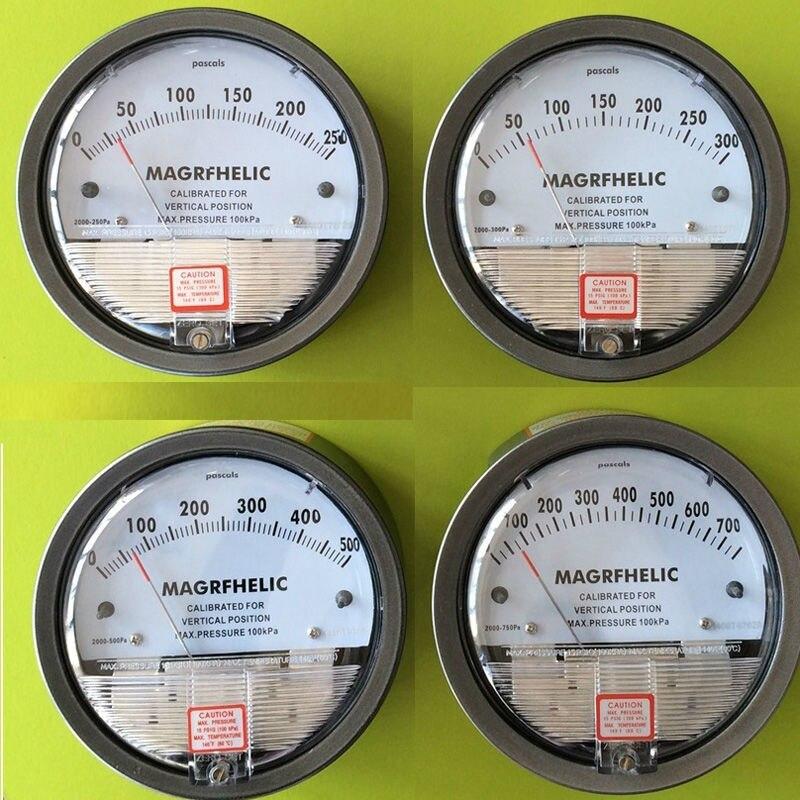 Clean room differential pressure gauge Manometer for gas High pressure 5000pa professional car tire pressure gauge tire pressure gauge with gas air pressure gauge for car fit for motorcycle bicycle type measure meter