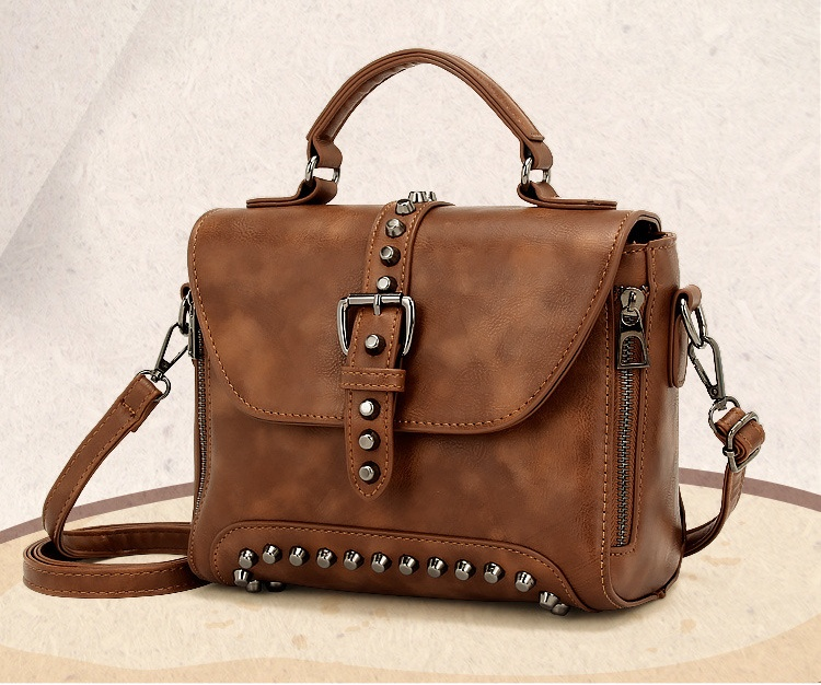 Steampunk British Women Bags  Steam Punk Retro Handbags Lady Shoulder Bag Working Briefcase Pure Color