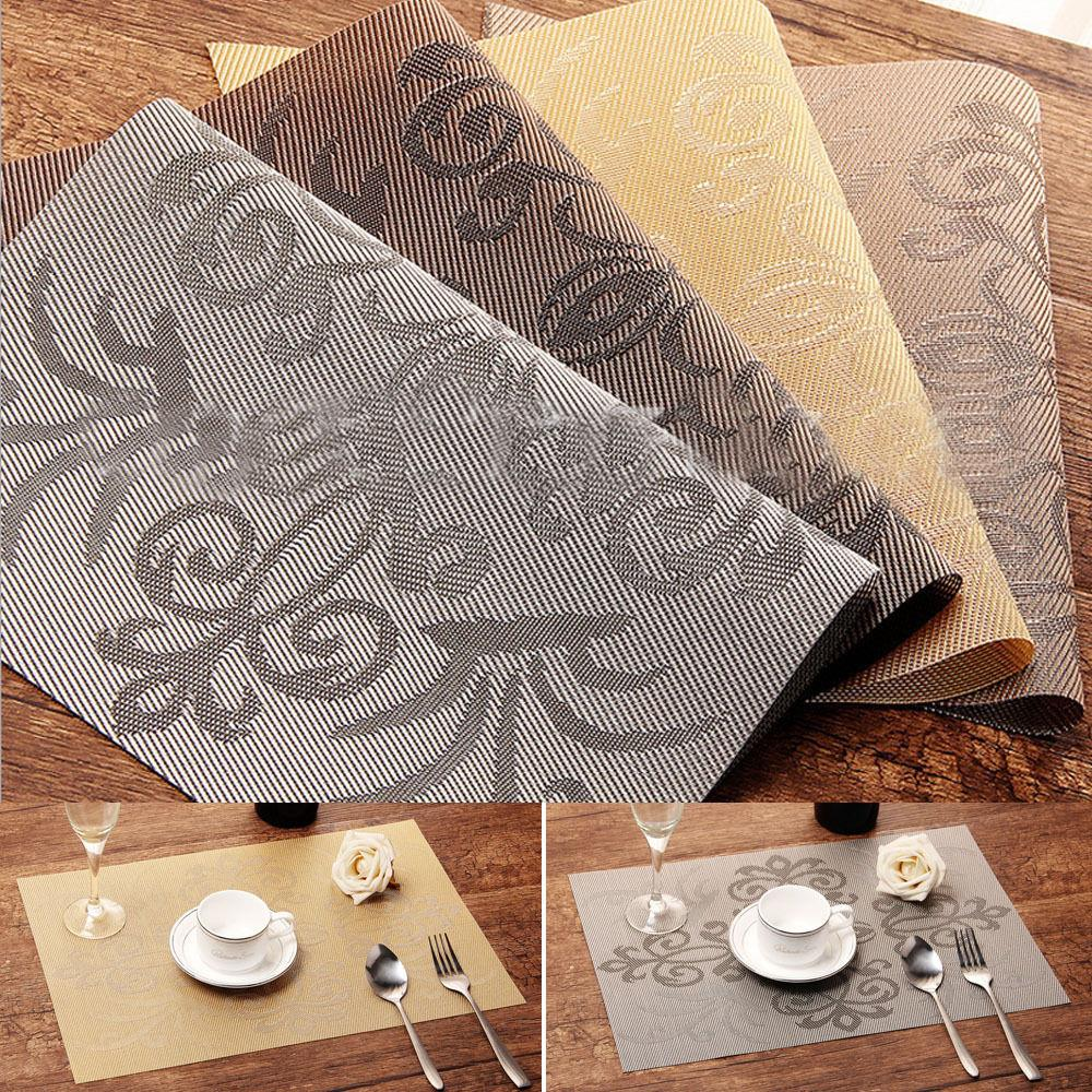 Dining Room Pads For Table: 4xpcs Western Creative Mats Insulation Bowl Table Printing