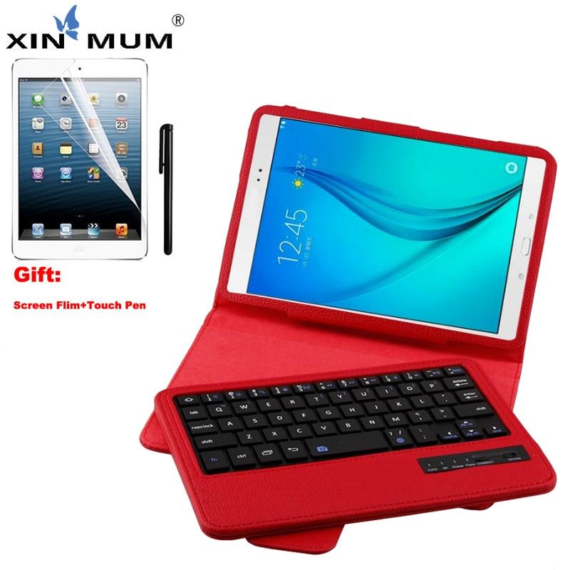 Étui pour clavier bluetooth sans fil de XIN-MUM pour Samsung Galaxy Tab A 8.0 pouces SM T350 T355 P350 étui en cuir