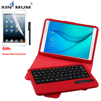 XIN MUM Wireless Bluetooth Keyboard Case For Samsung Galaxy Tab A 8.0 inch SM T350 T355 P350 Leather Case Cover