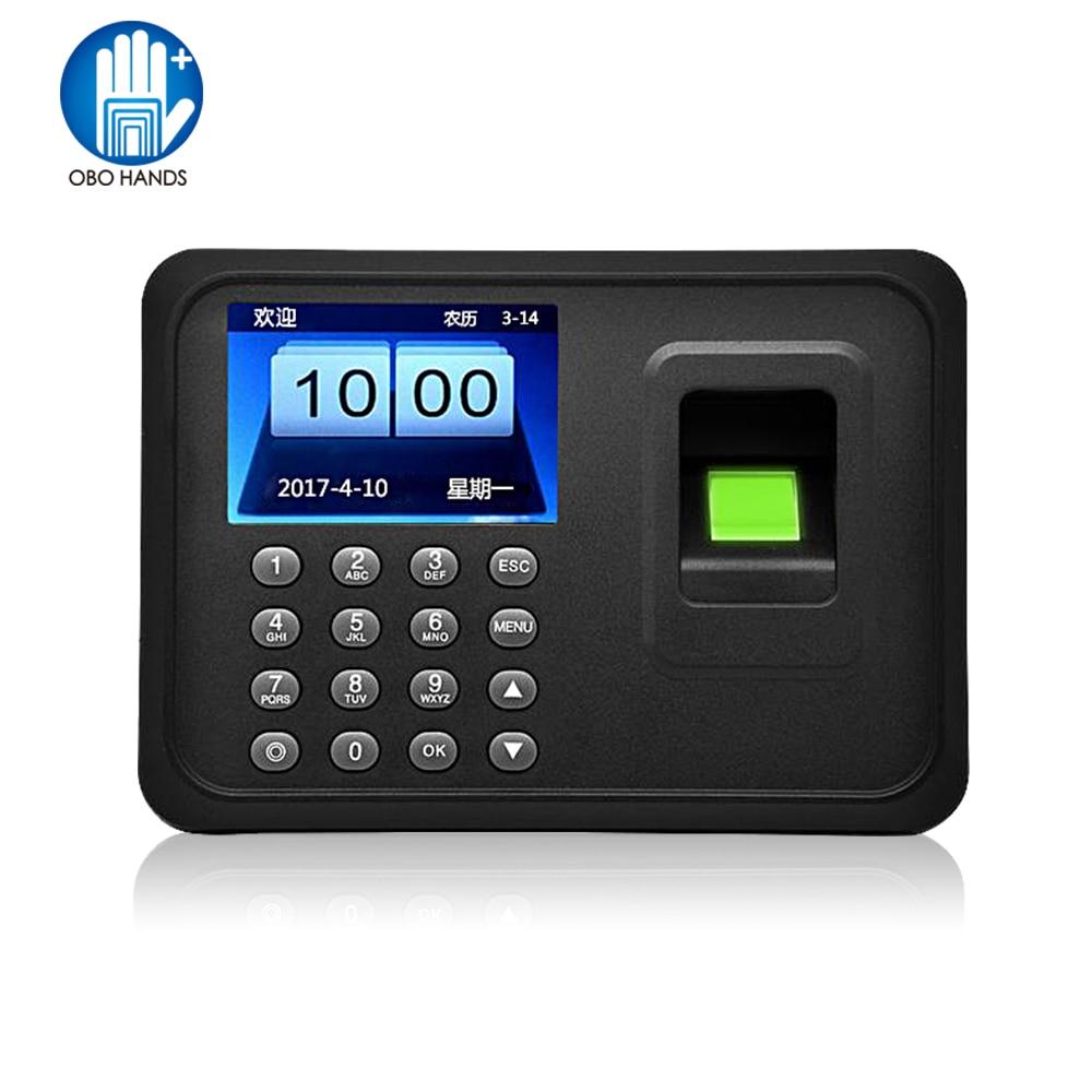 2 4 Inch Biometric Fingerprint Attendance Machine Usb