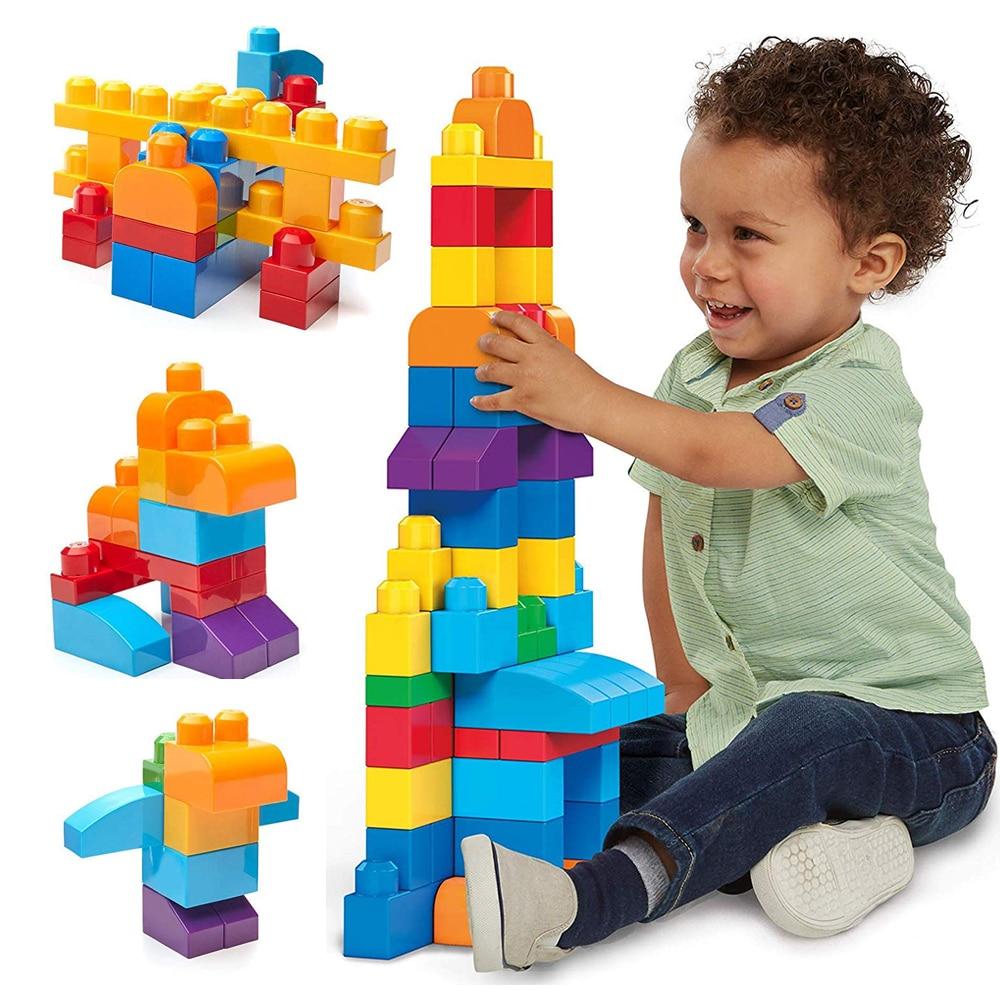 Где купить Большая сумка для строительства, детские игрушки, 1 год, 88 шт., большие блоки для детей ясельного возраста, набор для строительства кирпича, Игрушки для маленьких мальчиков, Oyuncak