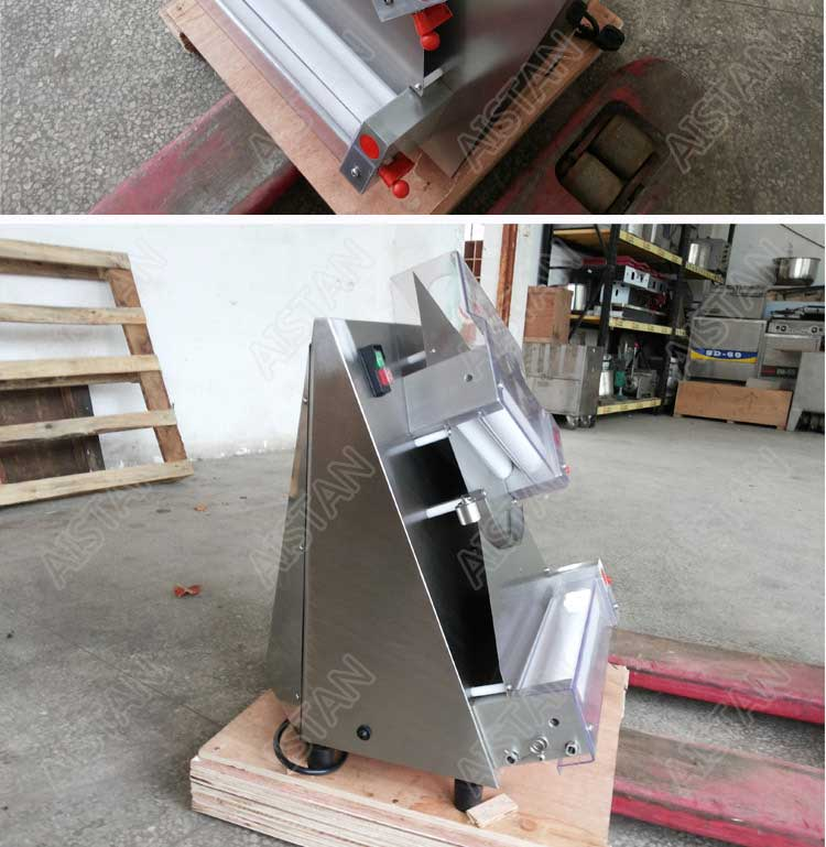 DR2A electric commercial stainless steel pizza dough roller/dough sheeter machine/dough press machine 16