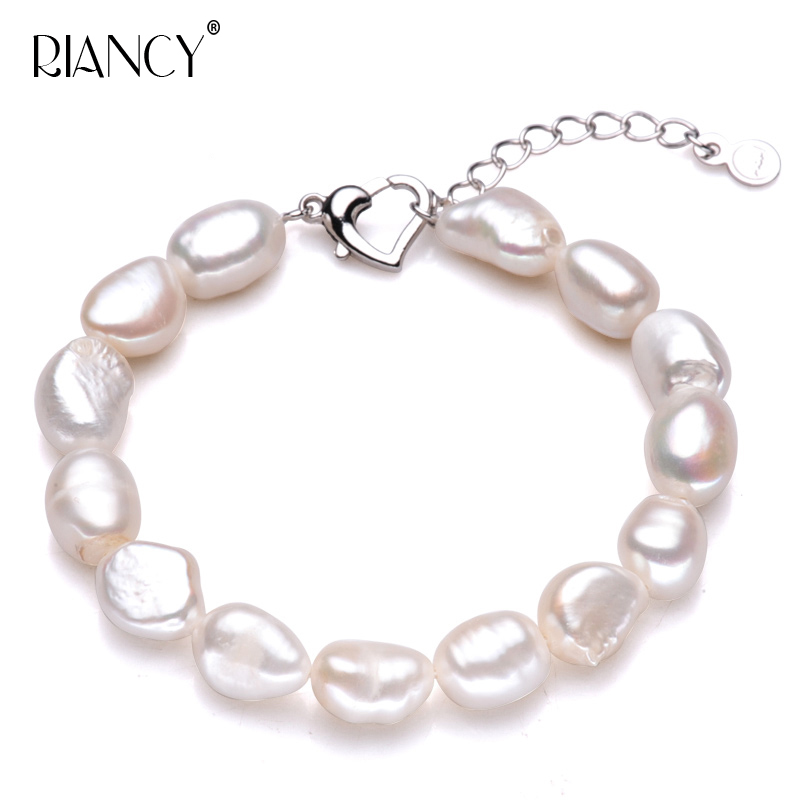 Vintage natural pearl bracelet women,adjustable strand baroque charms jewelry trendy birthday gift