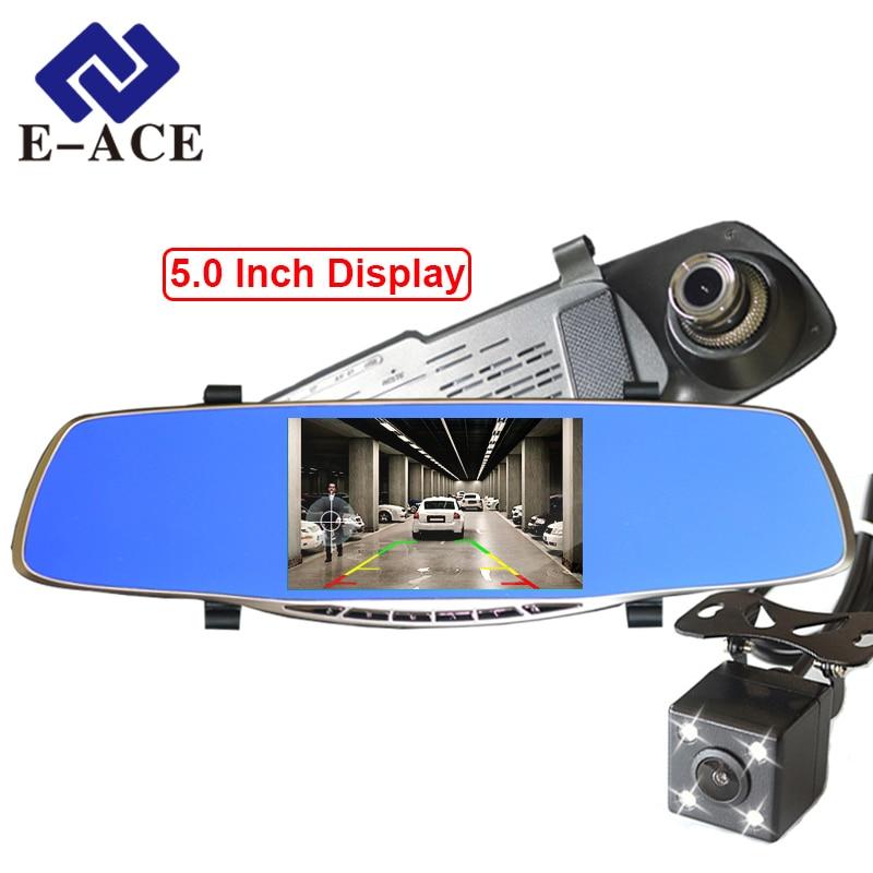 E ACE Full HD 1080P Car Dvr Camera Avtoregistrator 5 Inch Rearview Mirror Digital Video Recorder