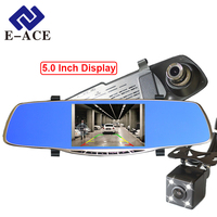 5 Inch Mirror Recorder With Night Vision Rearview Camera Dual Lens Cameras Car Dvr Video Recorders