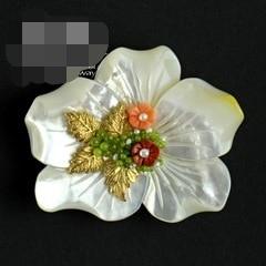 Natural Sea Shell Flower Brooch Pins Pendant Free Shipping Women Jewelry цены онлайн