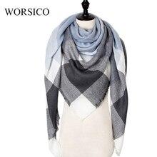 Winter Cashmere Scarf Women Scarf Plaid Blanket 2019 New Des