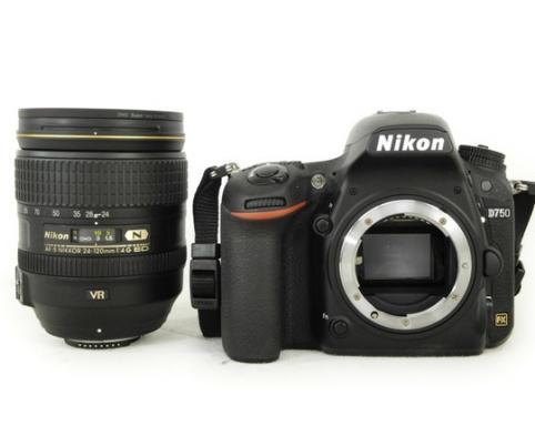 New Nikon D750 DSLR Camera Body With Nikon AF-S NIKKOR 24-120mm F/4G ED VR Lens
