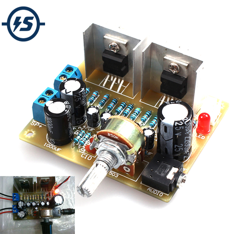 TDA2030A DIY Kit Electronic Amplifier Dual Channel Power Board DIY Kit For Arduino Production Training Suite