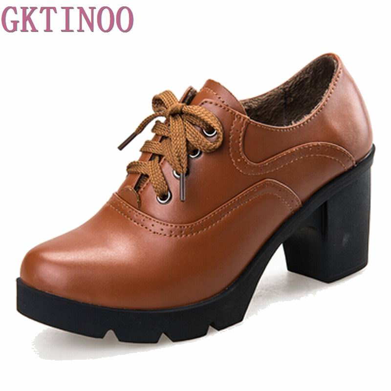 Shoes woman High Quality Solid Lace-up Ladies Genuine Leather Fashion shoes woman ankle boots T0162 high quality full grain genuine leather women motorcycle ankle boots 2016 black white lace up fashion ladies flat casual shoes