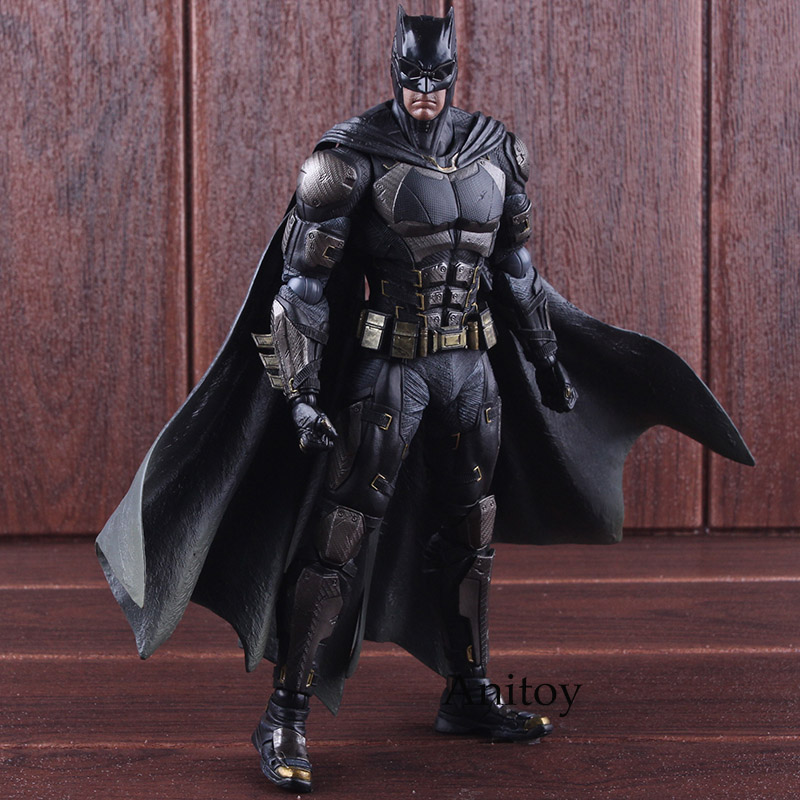 Play Arts Kai Action Figure No.1 Batman Tactical Suit Ver. PVC DC Justice League Batman Action Figure Collectible Model Toy 25cm play arts kai street fighter iv 4 gouki akuma pvc action figure collectible model toy 24 cm kt3503