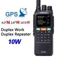 ABBREE AR 889G GPS SOS 10W 999CH Night Backlight Duplex Repeater Dual Band Dual Receiving Hunting CB Ham Radio Walkie Talkies