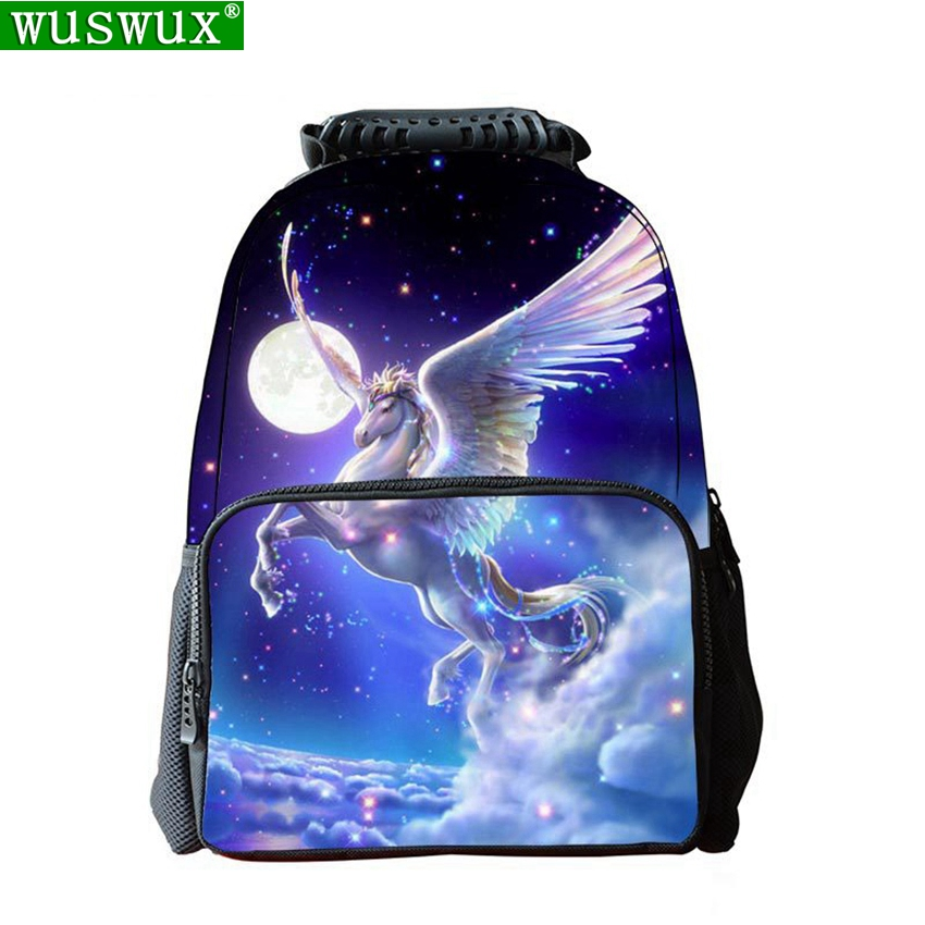 School Bags New Fashion Cool Unicorn 3D Printing Children Backpack Personality School Backpack Large Capacity Student Backpacks